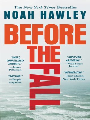 Before the Fall by Noah Hawley. AVAILABLE eBook.