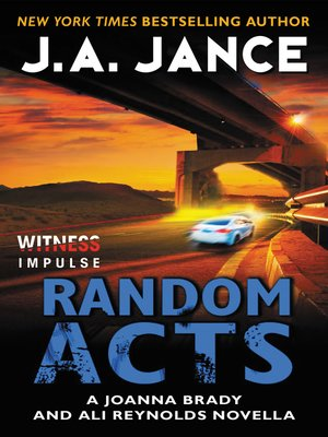 Random Acts by J. A. Jance. COMING SOON eBook.