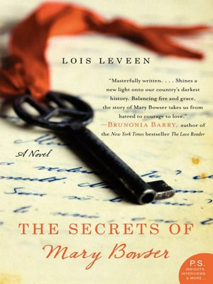 The Secrets of Mary Bowser by Lois Leveen.                                              AVAILABLE eBook.