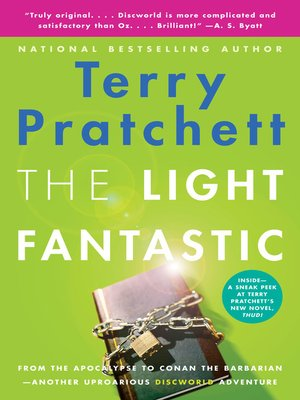 The Light Fantastic by Terry Pratchett.                                              AVAILABLE eBook.