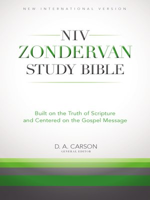 NIV Zondervan Study Bible by Richard Hess.                                              AVAILABLE eBook.