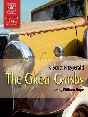 The Great Gatsby by F. Scott Fitzgerald. WAIT LIST Audiobook.