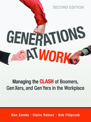 Generations at Work by Ron Zemke. AVAILABLE Audiobook.