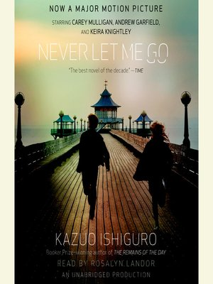 Never Let Me Go by Kazuo Ishiguro.                                              AVAILABLE Audiobook.