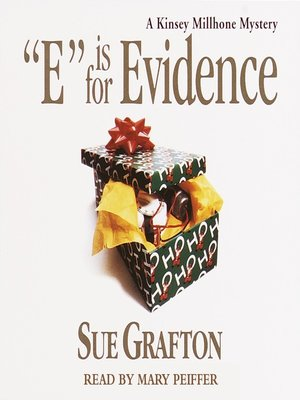 """""""E"""" is for Evidence by Sue Grafton.                                              AVAILABLE Audiobook."""