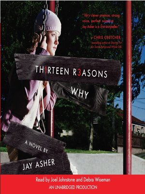 Thirteen Reasons Why by Jay Asher. AVAILABLE Audiobook.