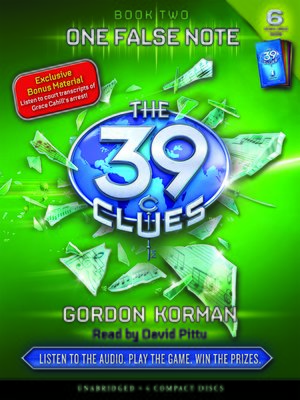 One False Note by Gordon Korman.                                              AVAILABLE Audiobook.
