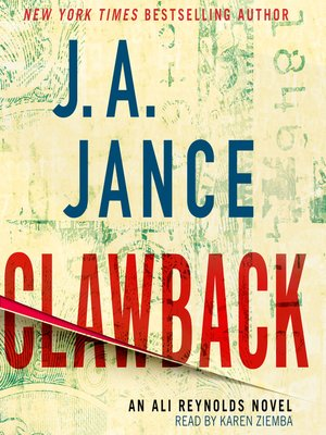 Clawback by J.A. Jance. AVAILABLE Audiobook.